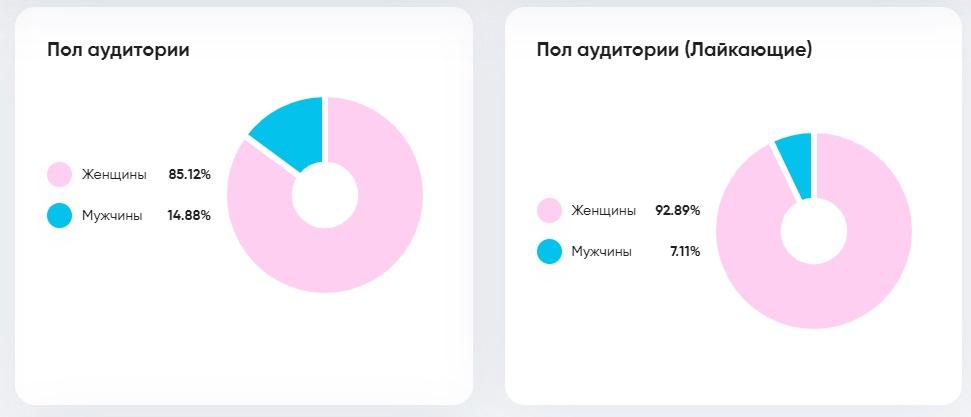 Статистика пол аудитории