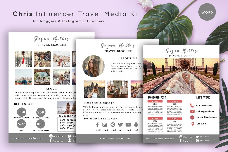 influencer travel media kit