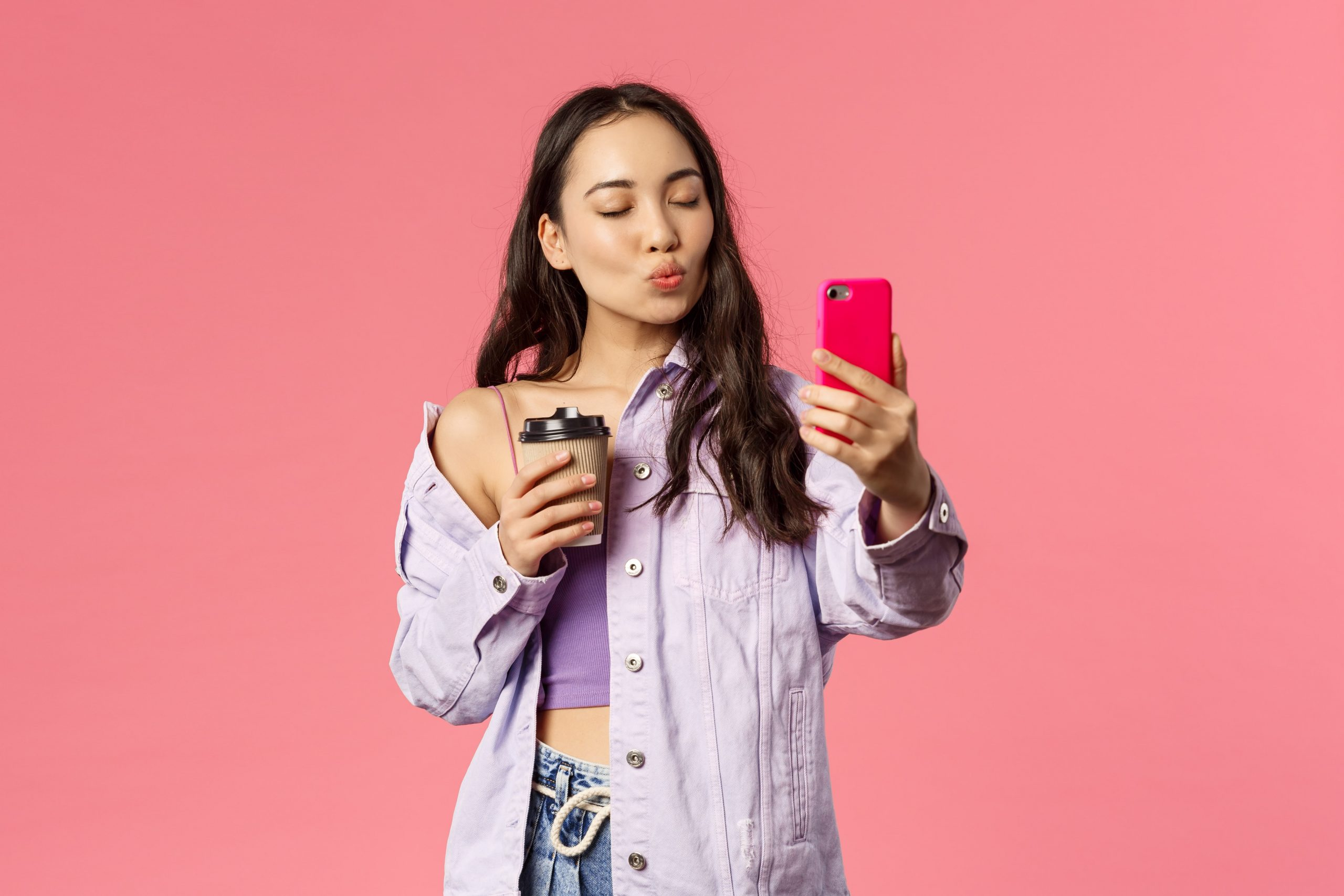 influencer taking picture
