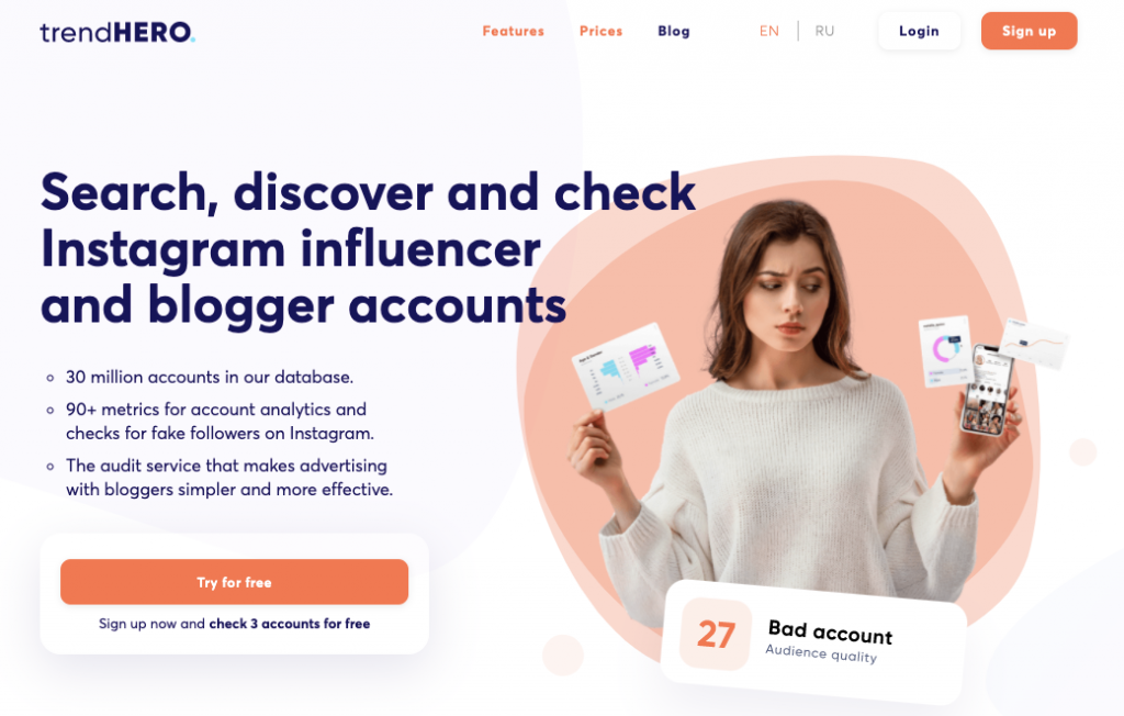 trendHERO homepage