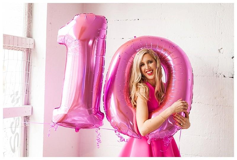 10K followers balloons
