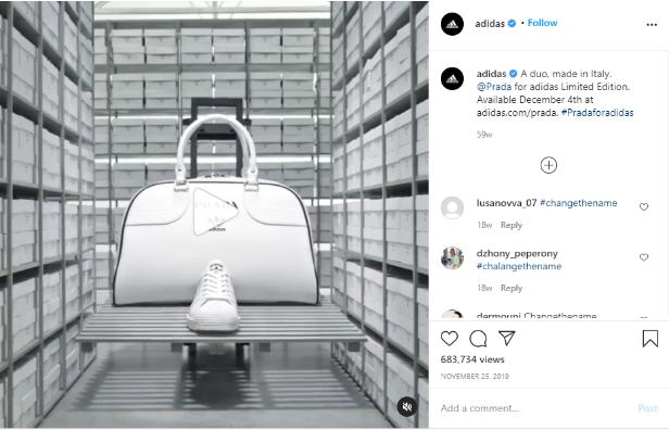 instagram accaunt Prada-Adidas