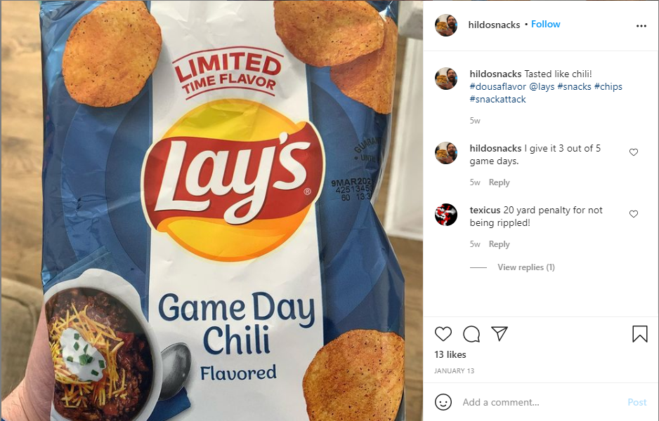 Lay's hashtag campaign