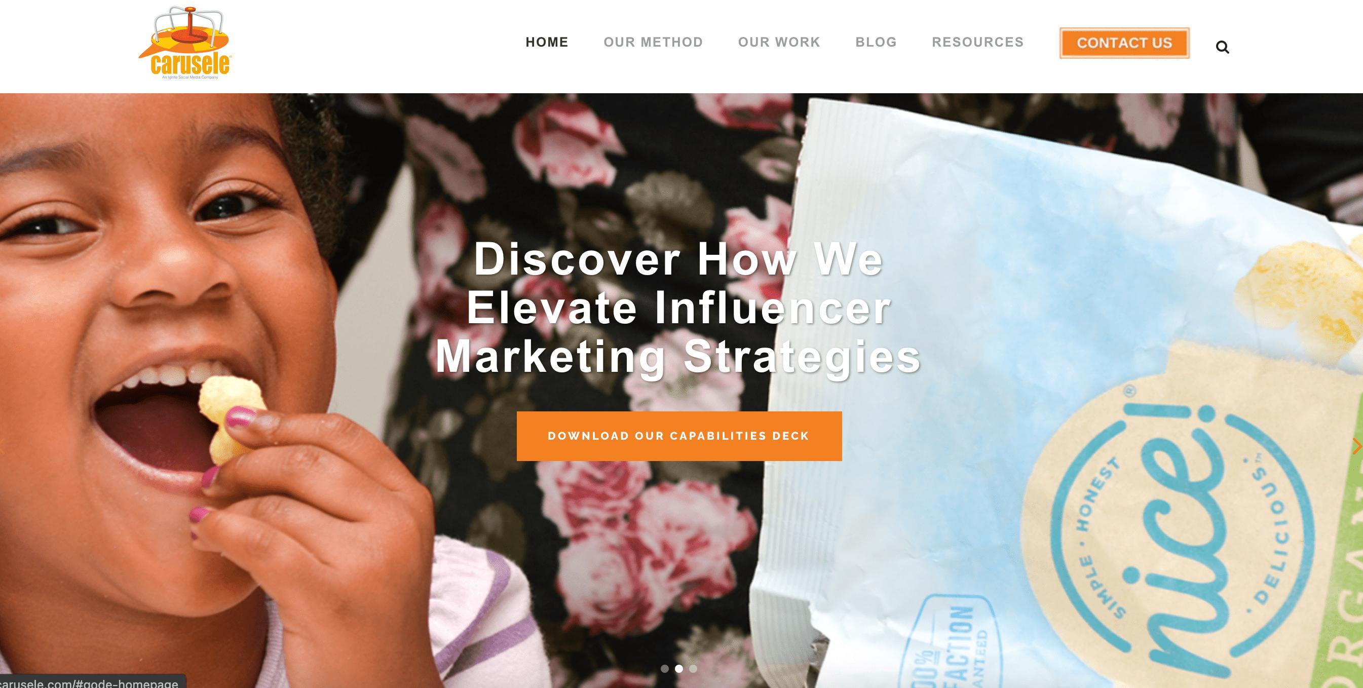 Carusele-influencer-marketing-company
