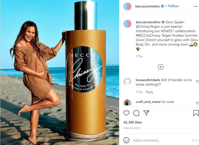 Becca Cosmetics'/Chrissy Teigen collaboration (2018)